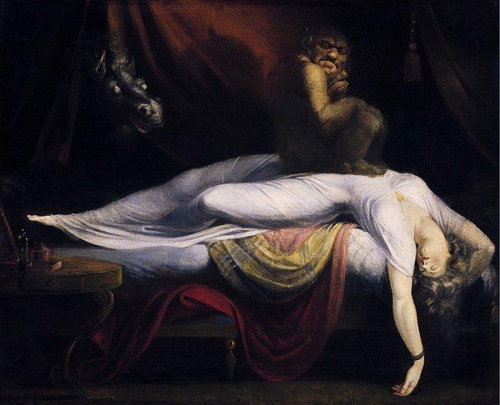 Ночной кошмар. Генри Фюзели, 1781 год. | Фото: en.wikipedia.org.