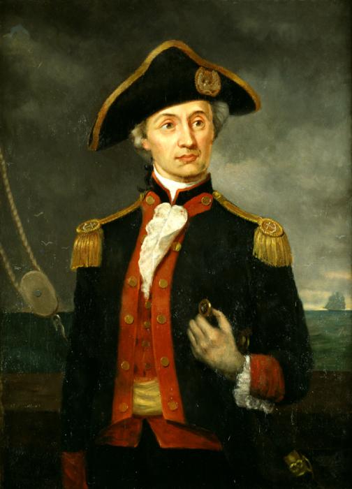 Капитан американского флота Джон Пол Джонс. | Фото: navycaptain-therealnavy.blogspot.com.