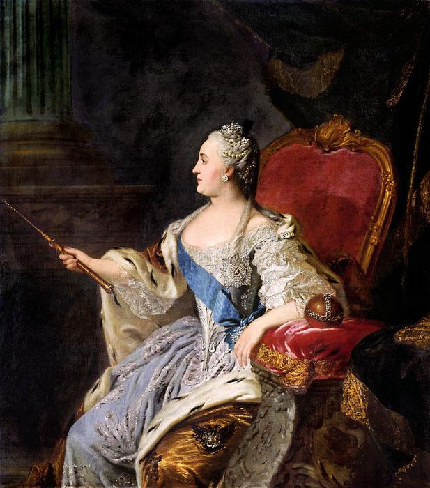 Императрица Всероссийская Екатерина II. Федор Рокотов, 1763 год. | Фото: ru.wikipedia.org.