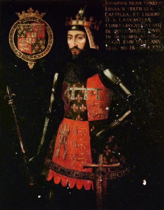 Джон Гонт, 1-й герцог Ланкастер, третий сын короля Эдуарда III. | Фото: megacurioso.com.br.
