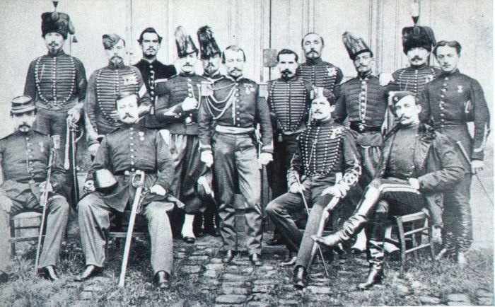 Французские военные специалисты перед отправкой в Японию, 1866 год. | Фото: en.wikipedia.org.
