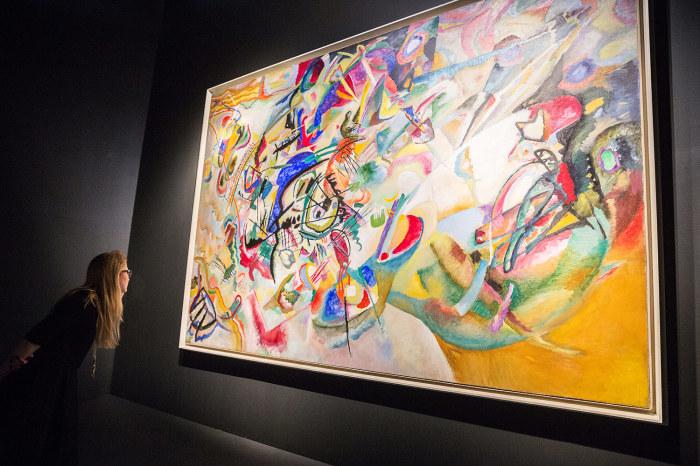 Композиция VII в Третьяковской галерее в Москве. | Фото: vedomosti.ru.