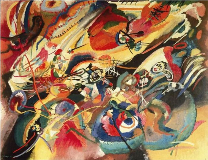 Композиция 7. Этюд. В.В. Кандинский, 1913 год. | Фото: artchive.ru.