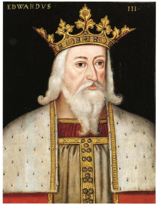 Эдуард III – король Англии, портрет конца XVI века. | Фото: commons.wikimedia.org.