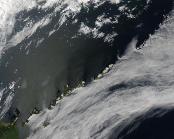 Вид из космоса на Южные Курильские острова.   Фото: flickr.com.