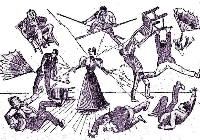 Весьма призрачная иллюстрация «Силы» Лулу Херст. Рисунок с обложки ее автобиографии, 1897 год.   Фото: dlg.galileo.usg.edu.