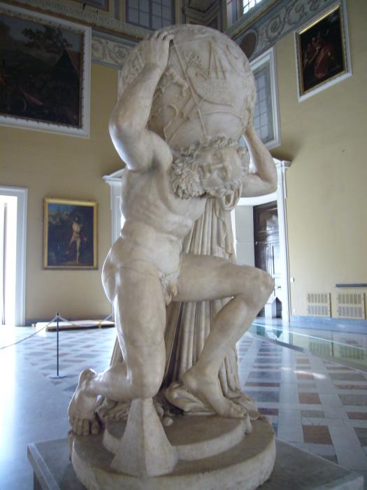 Римская статуя Атланта, II век до н.э. | Фото: ru.wikipedia.org.