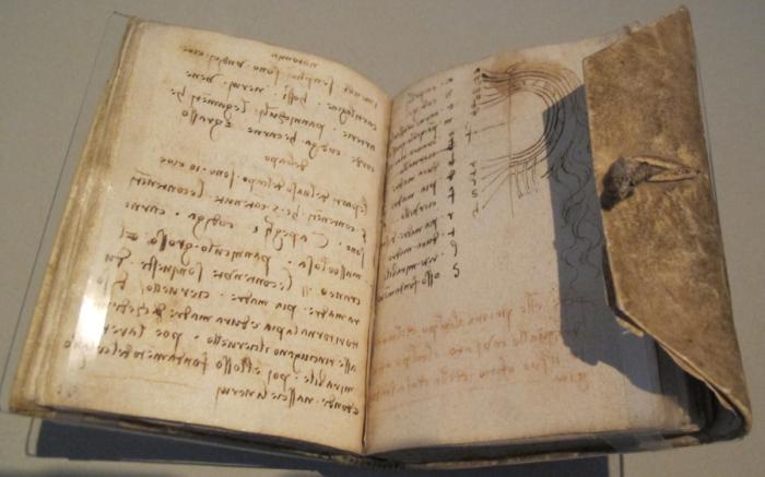 Лестерский кодекс Леонардо да Винчи. | Фото: favourite-books.com.