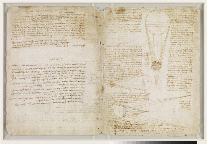 Лестерский кодекс Леонардо да Винчи. | Фото: businessinsider.com.