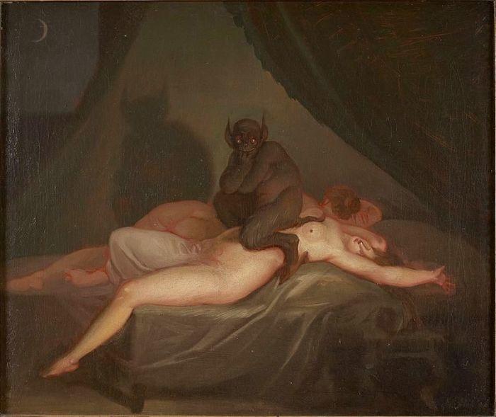 Ночной кошмар. Николай Абильдгаард, 1800 год. | Фото: ru.wikipedia.org.