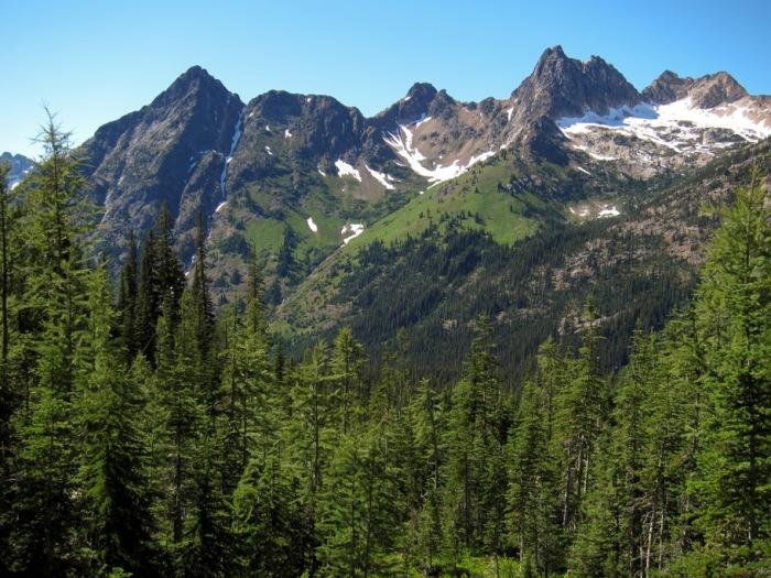 Северный горный каскад Национального леса Оканоган.   Фото: commons.wikimedia.org.