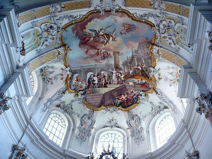 Потолочная фреска в церкви Оттобойрена. | Фото: de.wikipedia.org.