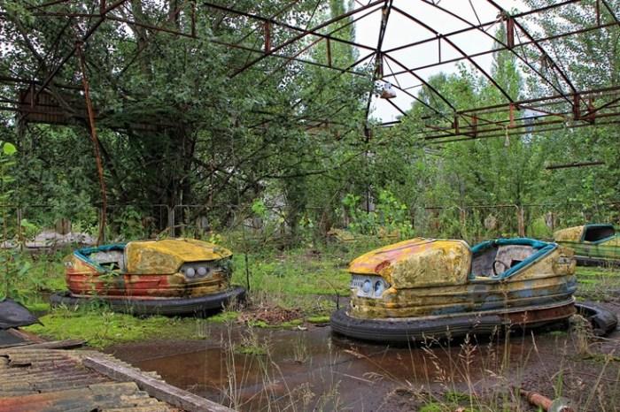 Аттракцион «автодром» в Припяти. Фото: viaescarlate.com.