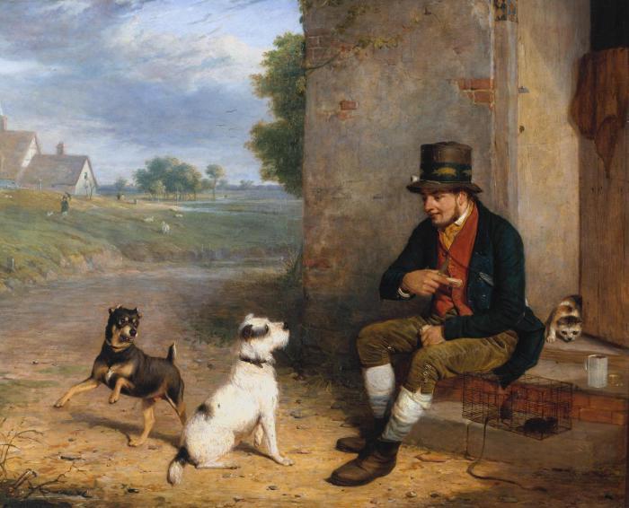 Крысолов и его собаки. Томас Вудворд, 1824 год. | Фото: playbuzz.com.