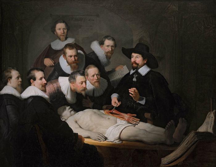 Урок анатомии доктора Тульпа. Рембрандт, 1632 год. | Фото: ru.wikipedia.org.