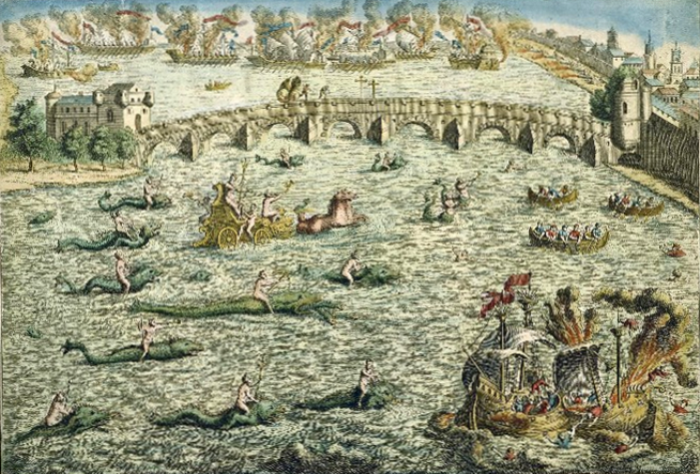 Другой тип морского зрелища – с участием морских монстров.   Фото: commons.wikimedia.org.