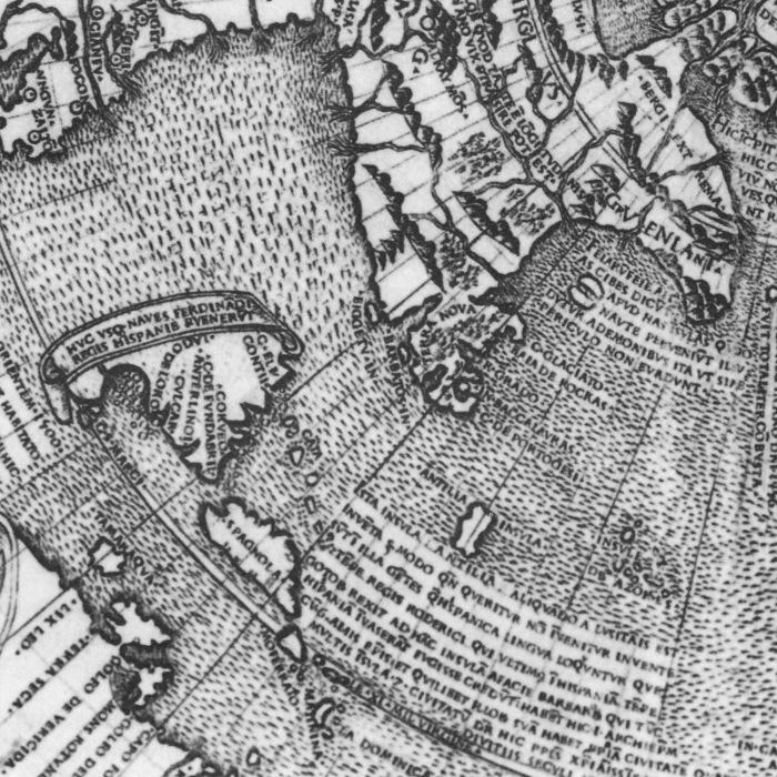 Карта Йохана Рюйша с изображенным островом Демонов, 1507 год. | Фото: en.wikipedia.org.