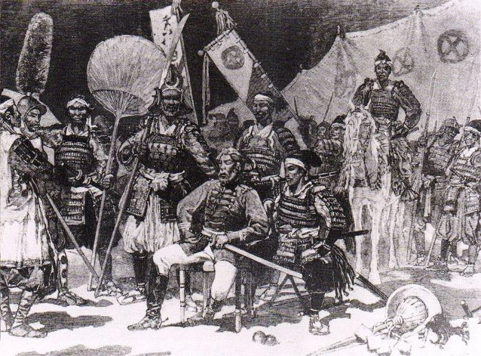 Руководитель восстания самураев Сайго Такамори со своими офицерами. | Фото: sarkisarslanian04.blogspot.com.