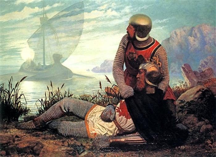 Гибель короля Артура. Джон Гаррик, 1862 год. | Фото: ru.wikipedia.org.