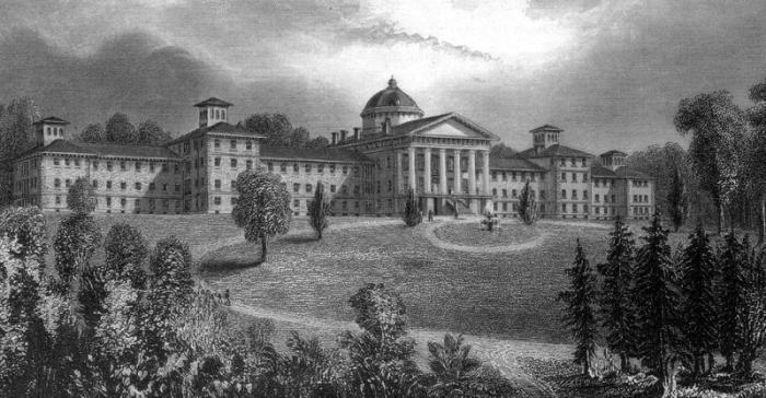 Психиатрический госпиталь в Трентоне, штат Нью-Джерси. | Фото: antiquityechoes.blogspot.com.