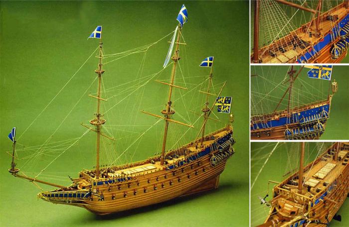 Деревянная модель галеона «Ваза». | Фото: aeroner.com.ua.