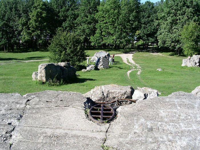 Руины ставки Гитлера «Вервольф». | Фото: ru.wikipedia.org.