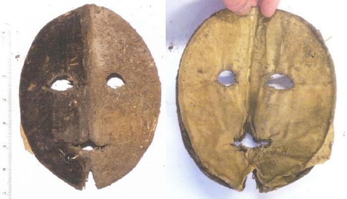 Женская маска от солнца XVI века, найденная в Давентри, Англия. | Фото: commons.wikimedia.org.