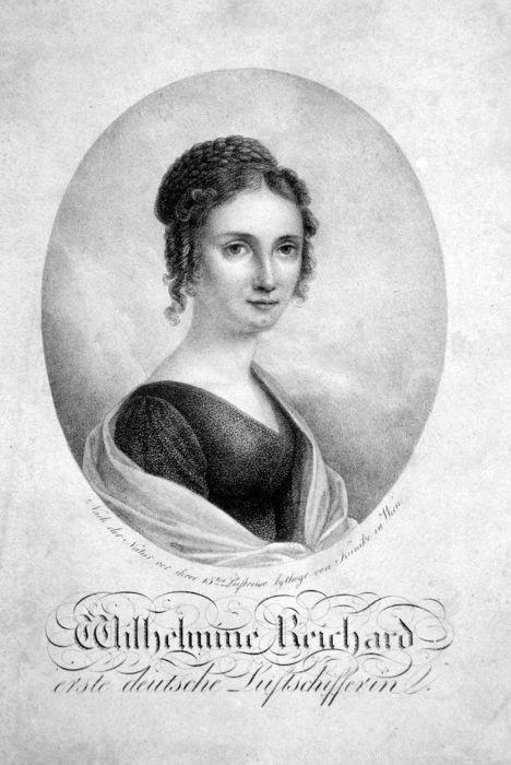Портрет Вильгельмины Рейхард  - немецкой женщины-воздухоплавателя. | Фото: en.wikipedia.org.