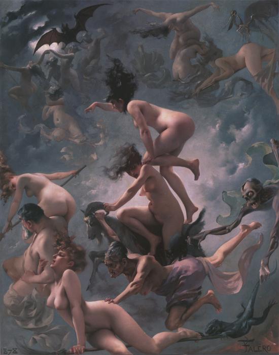 Ведьмы прибывают на шабаш. Луис Рикардо Фалеро, 1878 г. | Фото: commons.wikimedia.org.