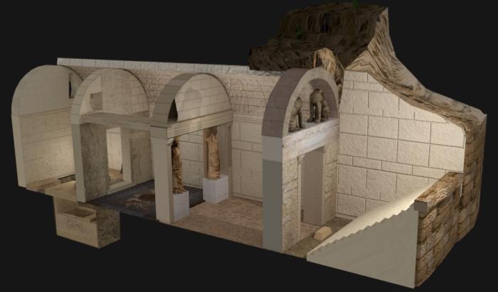 Трехмерная реконструкция гробницы в Амфиполисе. | Фото: en.wikipedia.org.