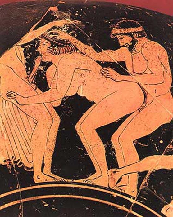 Фрагмент изображения древнегреческой керамики. | Фото: bogatum.ru.
