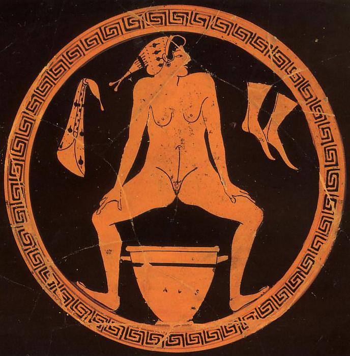 Обнаженная женщина на греческом блюде. | Фото: imagefap.com.