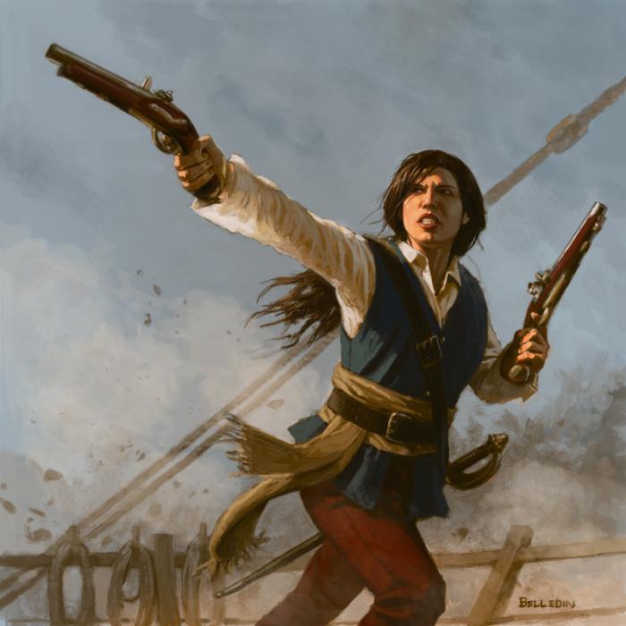 Женщина-пиратка Энн Бонни. | Фото: pinterest.com.