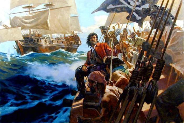Пираты на корабле XVIII века.   Фото: labrujulaverde.com.