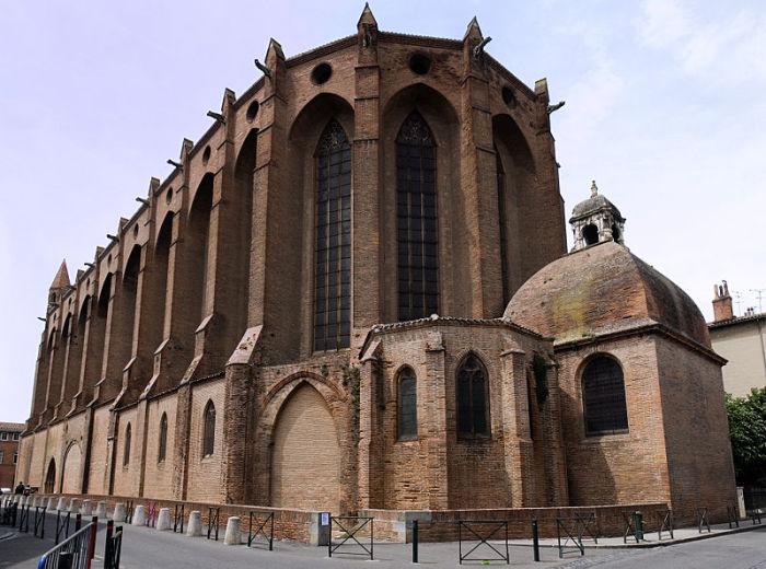 Церковь якобинцев в Тулузе. | Фото: en.wikipedia.org.