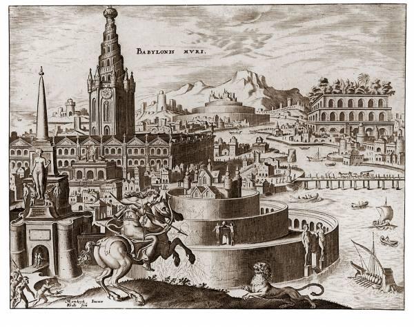 Висячие сады Семирамиды (из серии Семь чудес света). Мартен ван Хемскерк (1498-1574). | Фото: upload.wikimedia.org.
