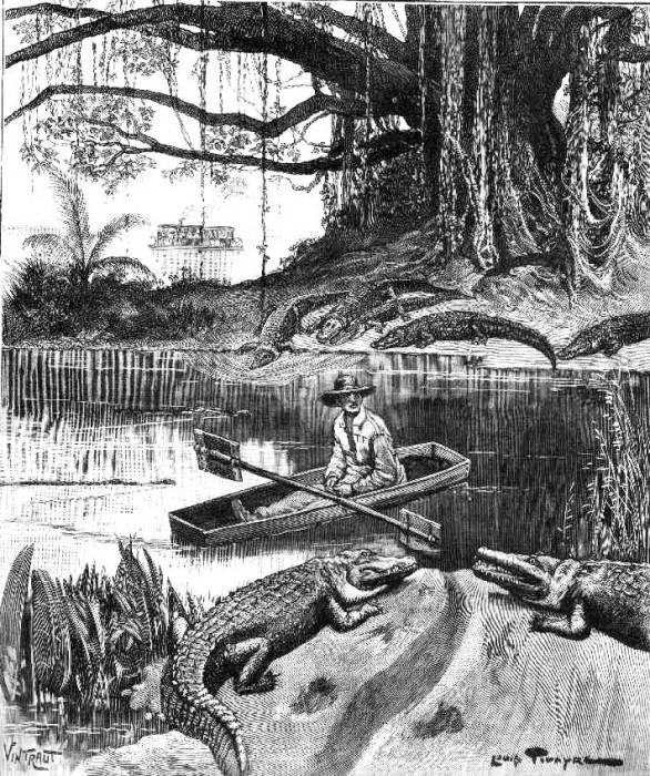 Иллюстрацию к роману Луи Буссенара о приключениях каторжан во Французской Гвиане. | Фото: bagne-guyane.com.