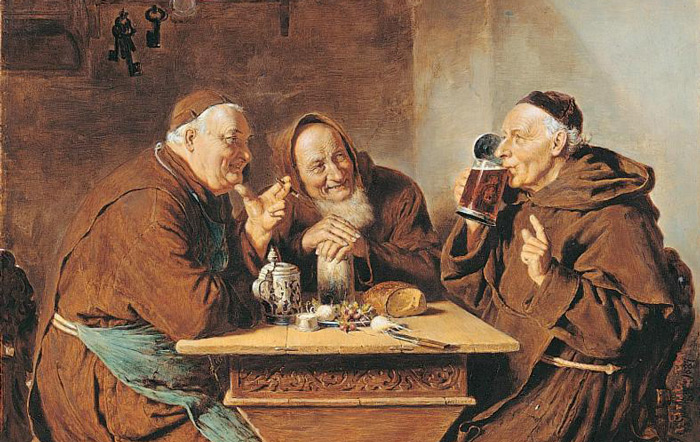 Монахи пьют пиво. Arturo Petrocelli. | Фото: tektonministries.org.