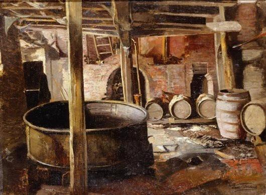Старинная бельгийская пивоварня. Leon Frederic, 1895 год. | Фото: museumsyndicate.com.