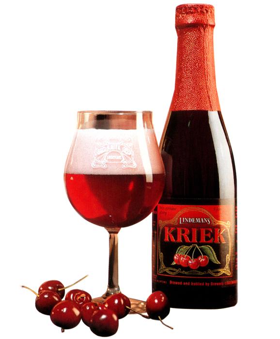 Бельгийское пиво крик, настоянное на вишне. | Фото: betop.su.