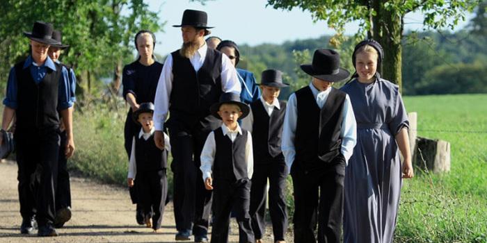 Большая семья амишей. | Фото: donnasofberlin.com.