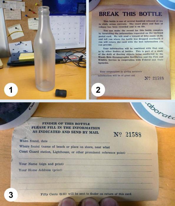 Инструкция к «научной» бутылке. | Фото: capeandislands.org.