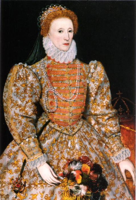 Портрет королевы Англии Елизаветы I Тюдор, 1575 год. | Фото: en.wikipedia.org.