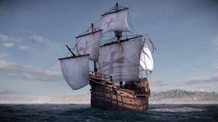 Санта-Мария – флагманский корабль Христофора Колумба на его пути в Америку.   Фото: secretworlds.ru.