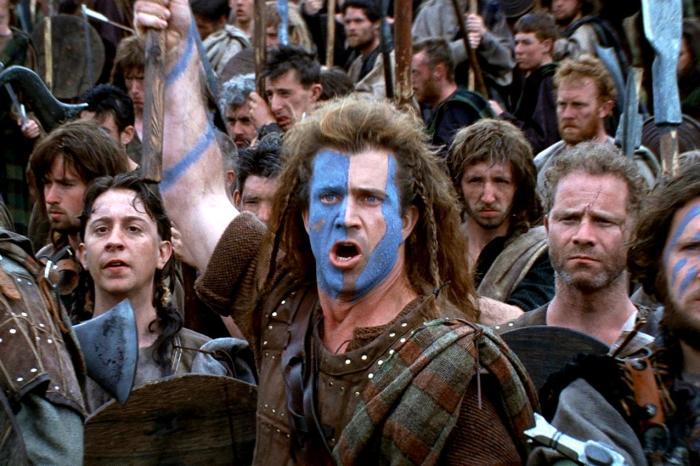 Средневековые шотландцы в фильме «Храброе сердце». | Фото: tvkinoradio.ru.
