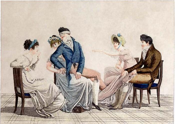 «Салонная» игра викторианской эпохи. | Фото: victorianchristmastide.wordpress.com.