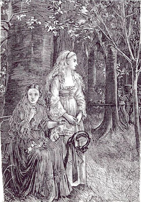 Лора и Кармилла - свидетели похоронной процессии одной из жертв Кармиллы. | Фото: en.wikipedia.org.