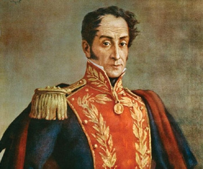Симон Боливар – американский революционер, в честь которого назвали страну. | Фото: thefamouspeople.com.