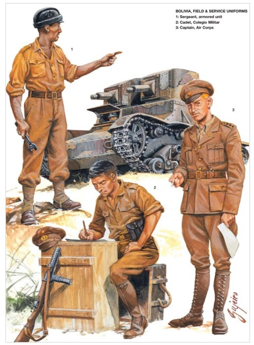 Боливийские солдаты периода войны Чако.   Фото: weaponsandwarfare.com.