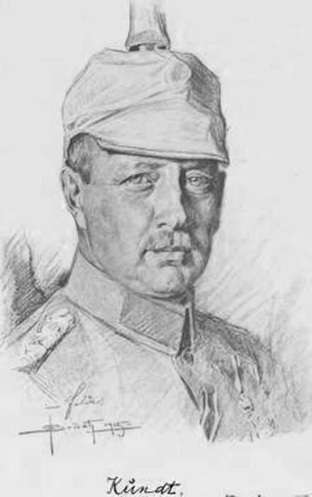 Немецкий генерал Ганс Кундт, 1915 год.   Фото: austro-hungarian-army.co.uk.